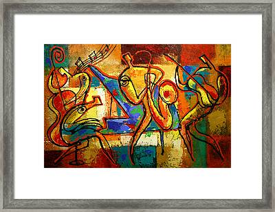 Soul Jazz Framed Print by Leon Zernitsky