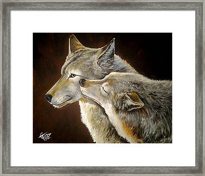 Soul Mates Framed Print by Tom Carlton