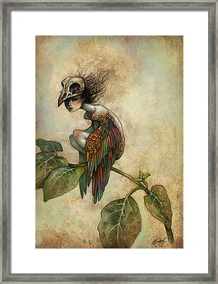 Soul Of A Bird Framed Print by Caroline Jamhour