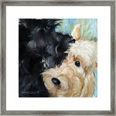 Soulmates Framed Print by Mary Sparrow