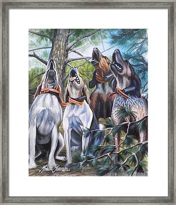 Sound Of The Hound Framed Print by Monica Turner