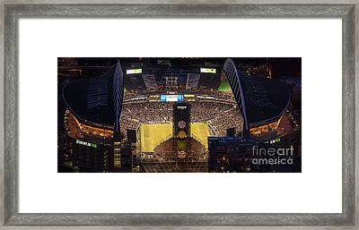 Sounders Match At Century Field Framed Print by Mike Reid