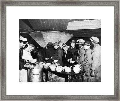 Soup Kitchen, 1931 Framed Print by Granger