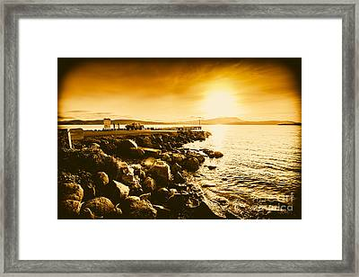 South Arm Sunset Framed Print by Jorgo Photography - Wall Art Gallery