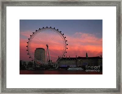 South Bank Sunset London Framed Print by James Brunker