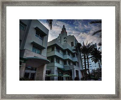 South Beach - Collins Avenue 004 Framed Print by Lance Vaughn
