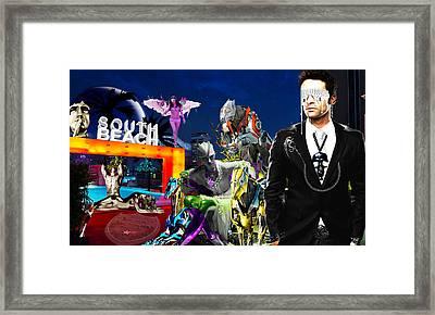 South Beach Framed Print by Jan Rafael