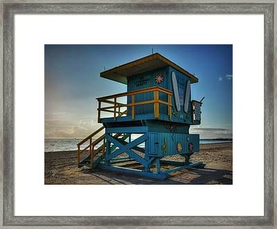 South Beach Lifeguard Station 003 Framed Print by Lance Vaughn