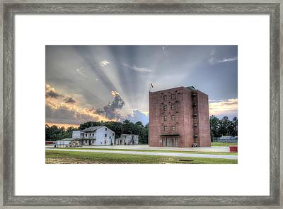 South Carolina Fire Academy Tower Framed Print by Dustin K Ryan