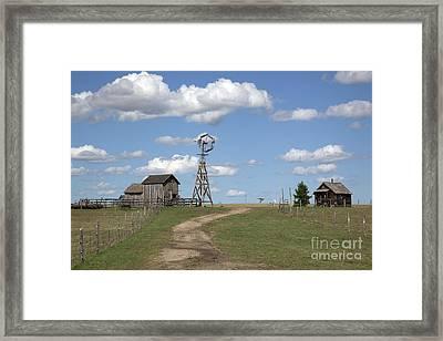 South Dakota: Windmill Framed Print by Granger