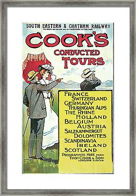 South Eastern And Chatham Railway Cooks Conducted Tours Framed Print by Dennis Fitzsimmons