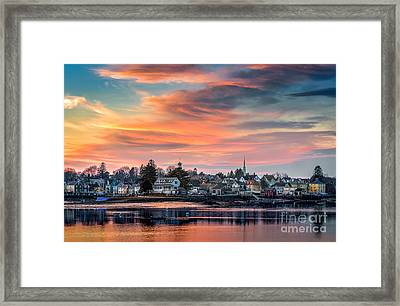 South End Sunset Framed Print by Scott Thorp