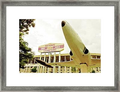 South Endzone - Tiger Stadium Framed Print by Scott Pellegrin