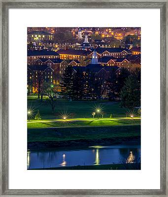 South Green At Dusk Framed Print by Robert Powell