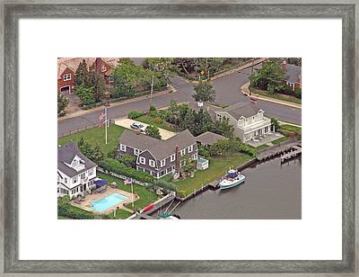 South Lagoon House Mantoloking New Jersey Framed Print by Duncan Pearson