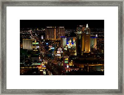 South Las Vegas Strip Framed Print by James Marvin Phelps