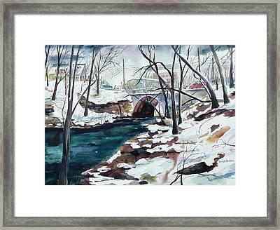 South Main Street Bridge Framed Print by Scott Nelson