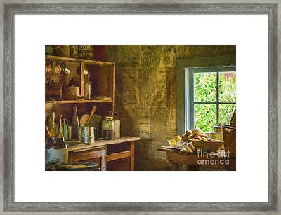 South Pass City Kitchen  Framed Print by Priscilla Burgers