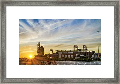 South Philly Sunrise - Citizens Bank Park Framed Print by Bill Cannon