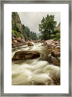 South St Vrain Canyon Portrait Boulder County Co Framed Print by James BO  Insogna