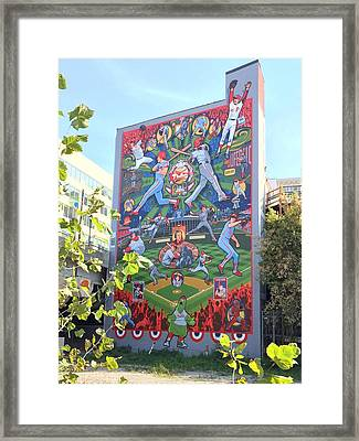 South Street Phillies Mural Framed Print by Alice Gipson