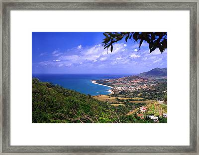 Southeast Coast Of Puerto Rico From Panoramic Route 901 Framed Print by Thomas R Fletcher