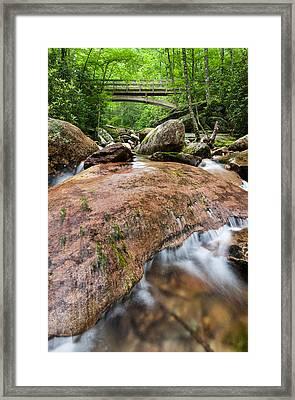 Southern Appalachian Mountain Stream Bridge Framed Print by Mark VanDyke