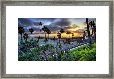 Southern California Sunset Framed Print by Sean Foster