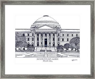 Southern Methodist University Framed Print by Frederic Kohli