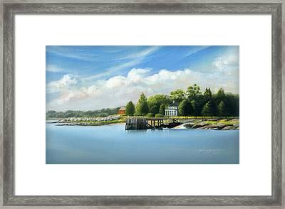 Southport Harbor Framed Print by John Deecken