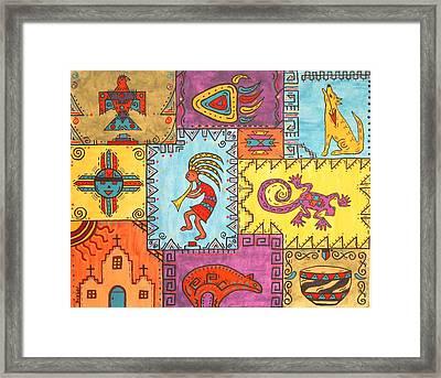 Southwest Sampler Framed Print by Susie WEBER