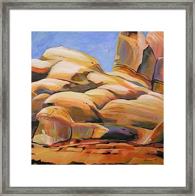 Southwest Stillness 3 Framed Print by Melody Cleary