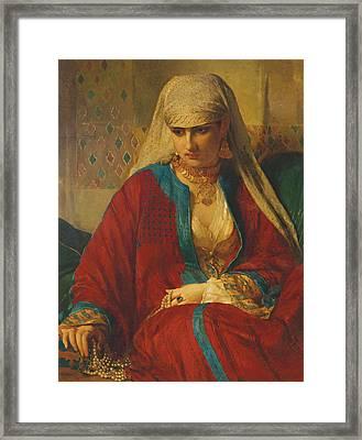 Souvenir D'orient, 1870 Framed Print by Jean Francois Portaels