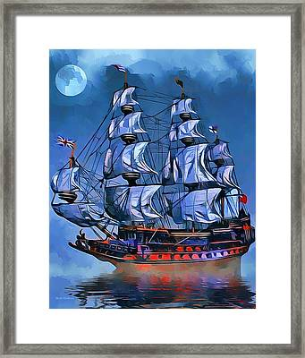 Sovereign Of The Seas Portrait Framed Print by Scott Wallace