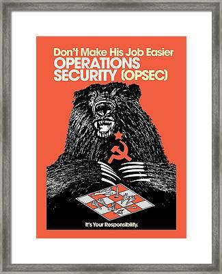 Soviet Threat - Usaf Opsec Vintage 80's Print Framed Print by Ed Jackson