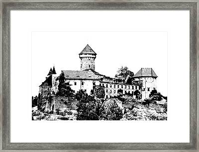 Sovinec - Castle Of The Holy Order Framed Print by Michal Boubin