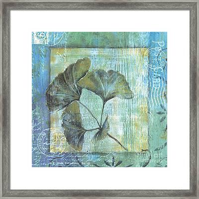 Spa Gingko Postcard 1 Framed Print by Debbie DeWitt