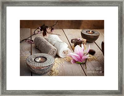 Spa Framed Print by Mythja  Photography