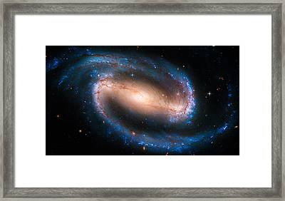 Space Image Barred Spiral Galaxy Ngc 1300 Framed Print by Matthias Hauser
