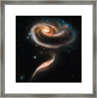 Space Image Galaxy Rose Framed Print by Matthias Hauser