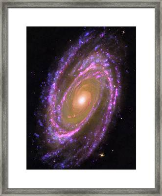 Space Image Messier 81 Spiral Galaxy Framed Print by Matthias Hauser