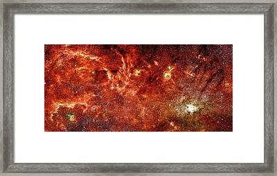 Space Image Milky Way Orange Red Framed Print by Matthias Hauser