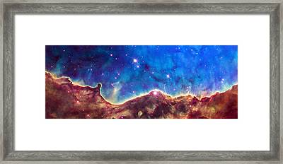 Space Image Nebula Panorama Framed Print by Matthias Hauser