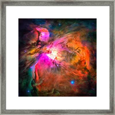 Space Image Orion Nebula Framed Print by Matthias Hauser