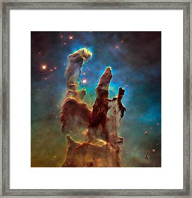 Space Image Pillars Of Creation Framed Print by Matthias Hauser