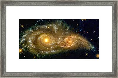 Space Image Spiral Galaxy Encounter Framed Print by Matthias Hauser
