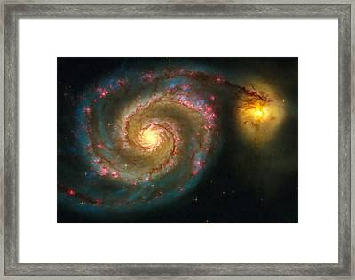Space Image Spiral Galaxy M51 Framed Print by Matthias Hauser