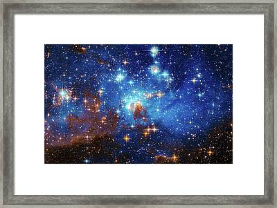 Space Image Stars In The Large Magellanic Cloud Framed Print by Matthias Hauser