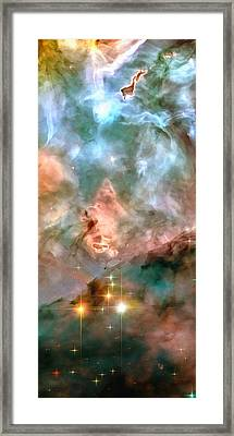 Space Image - Stars And Nebula Framed Print by Matthias Hauser