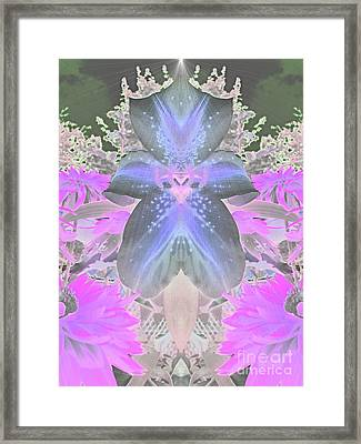 Space Lily Framed Print by Roxy Riou